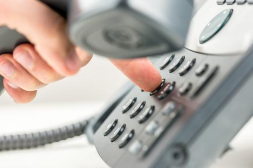 Person making a phone call